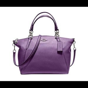 🆕 Kelsey Small Berry Pebble Leather Satchel